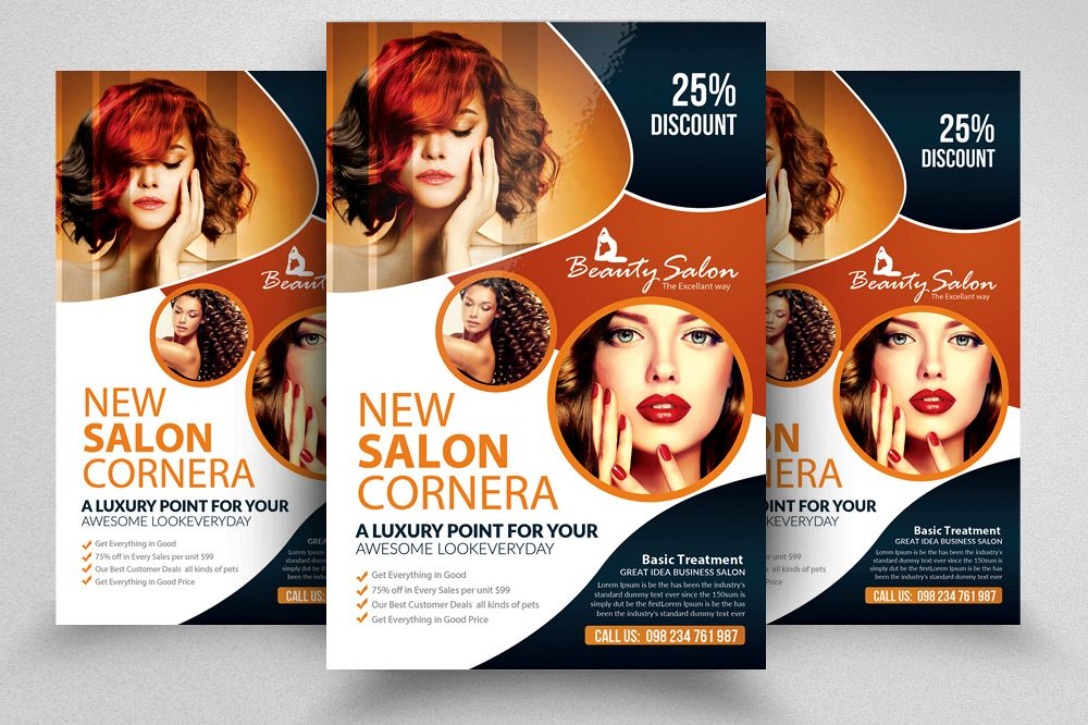 beauty salon flyer template example image
