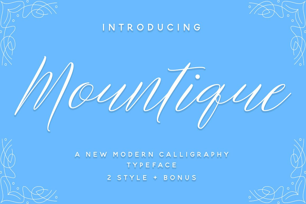 Mountique Typeface example image