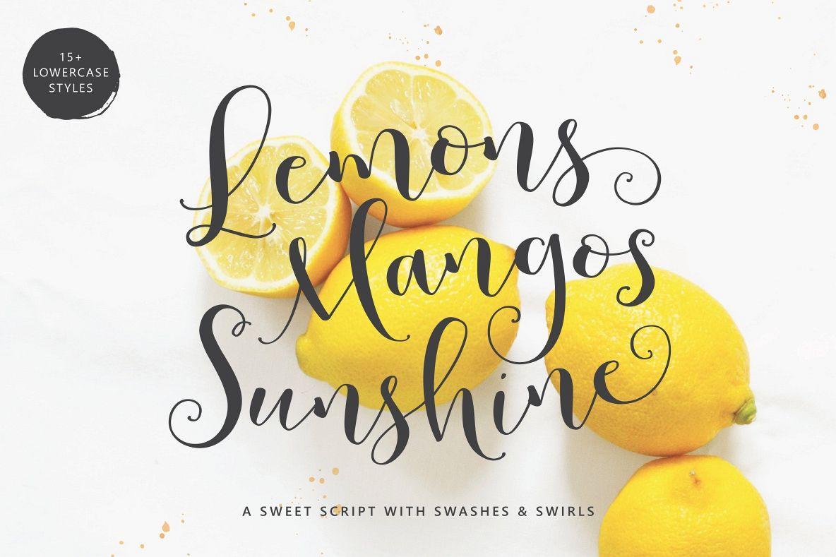 Lemons Mangos Sunshine example image