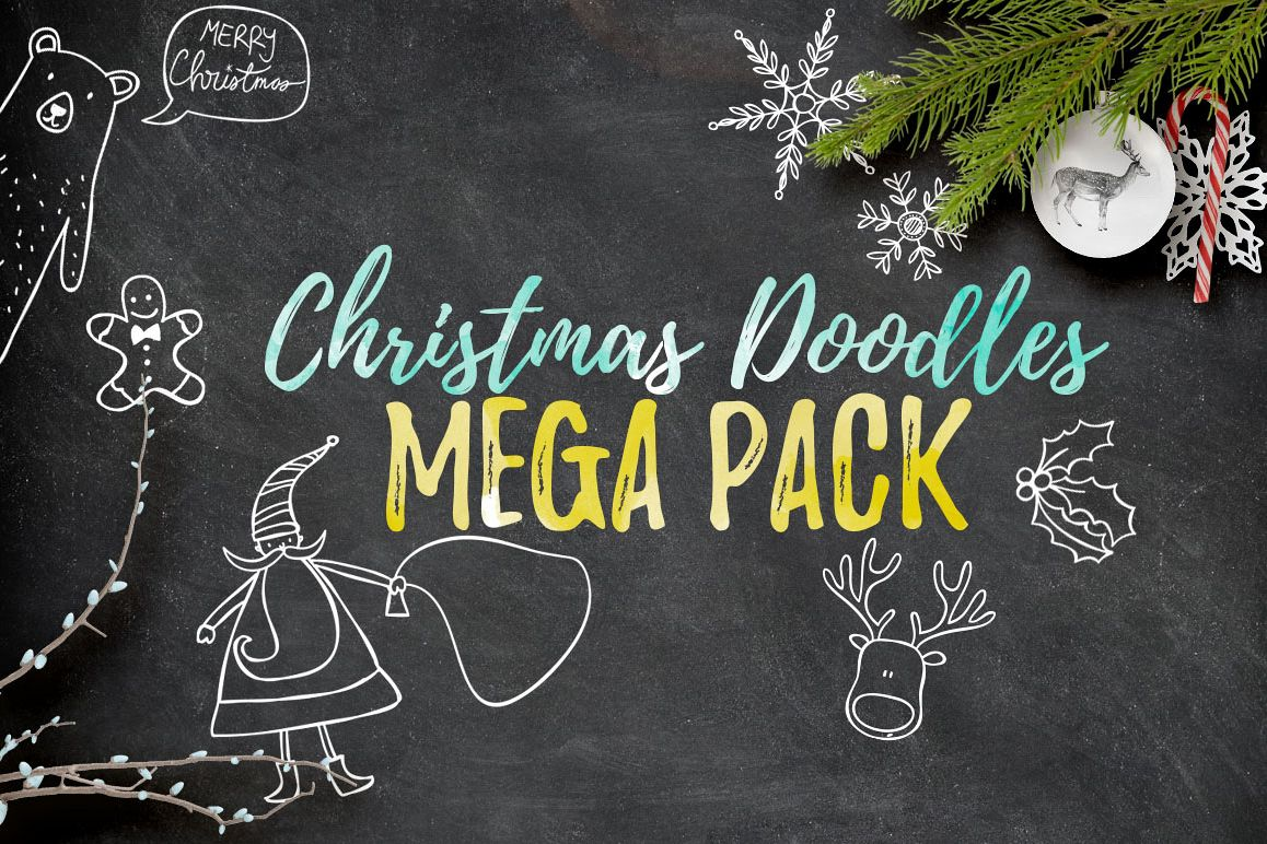 Christmas Doodles Mega Pack example image