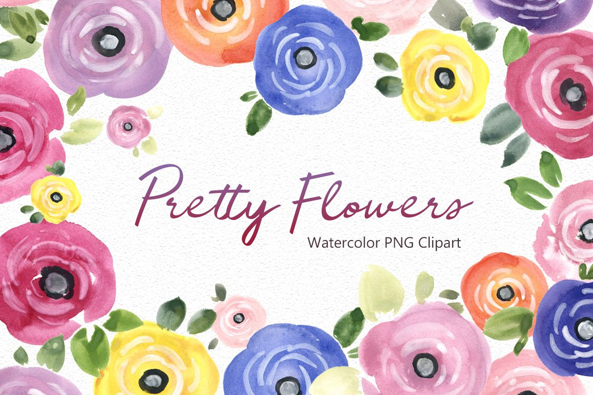 Pretty watercolor summer flowers png by design bundles pretty watercolor summer flowers png example image mightylinksfo