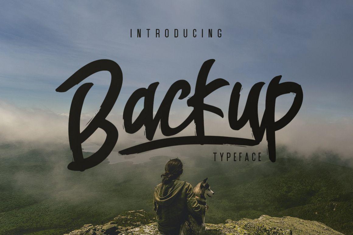 Backup Typeface example image