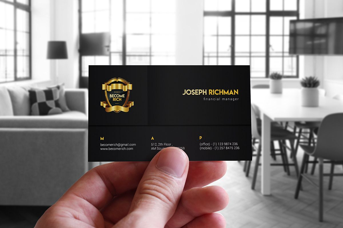 Luxury Business Card by FB-Graphic | Design Bundles