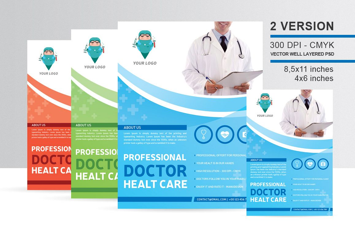 Professional Doctor Health Flyer example image
