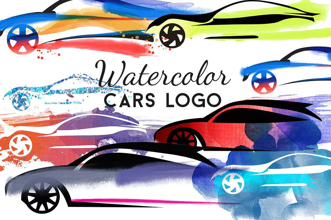 Watercolor cars logo example image