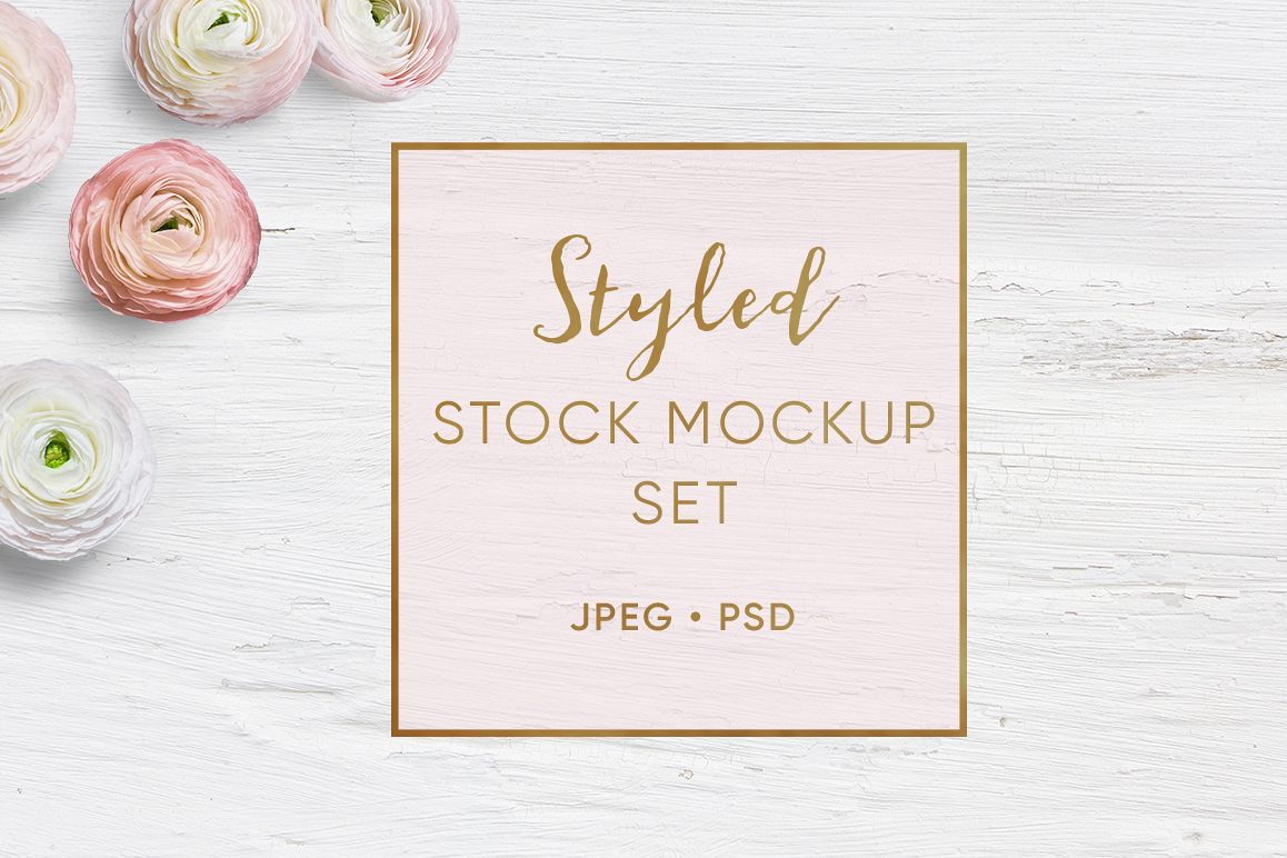 Feminine Styled Stock Mock up set example image