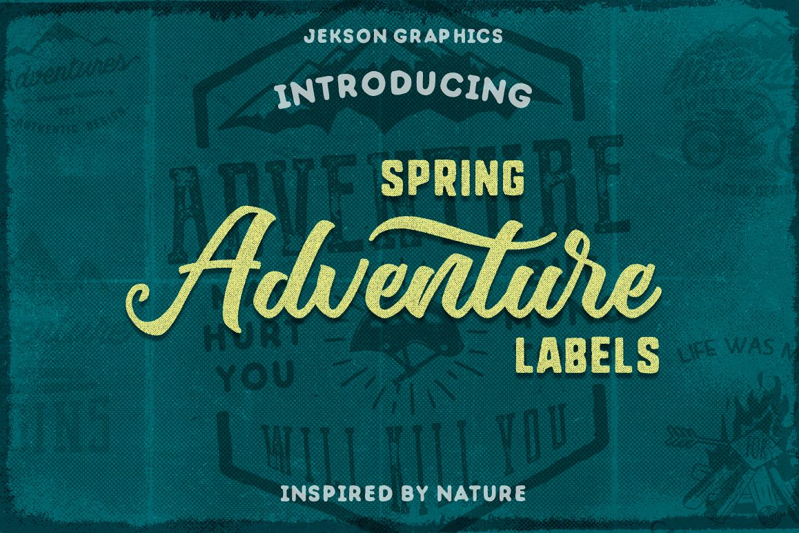 Spring Adventure Motivational Labels example image