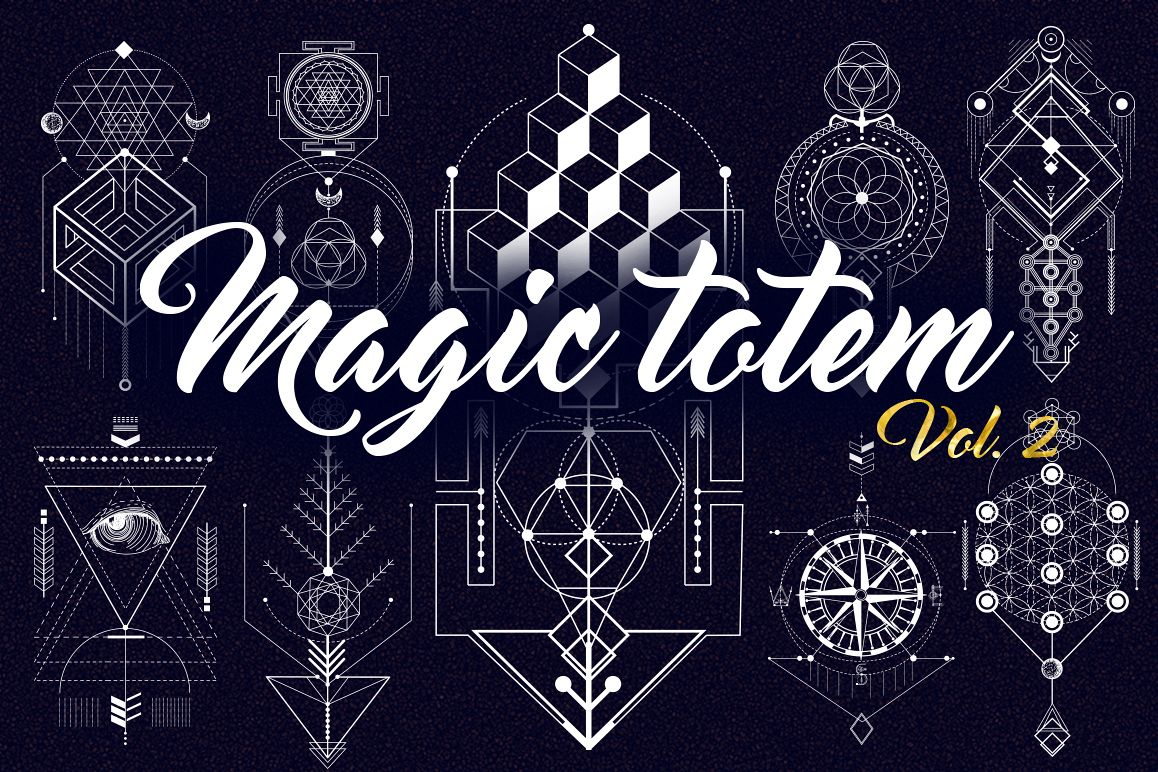 Sacred Geometry. Magic totem vol.2 example image