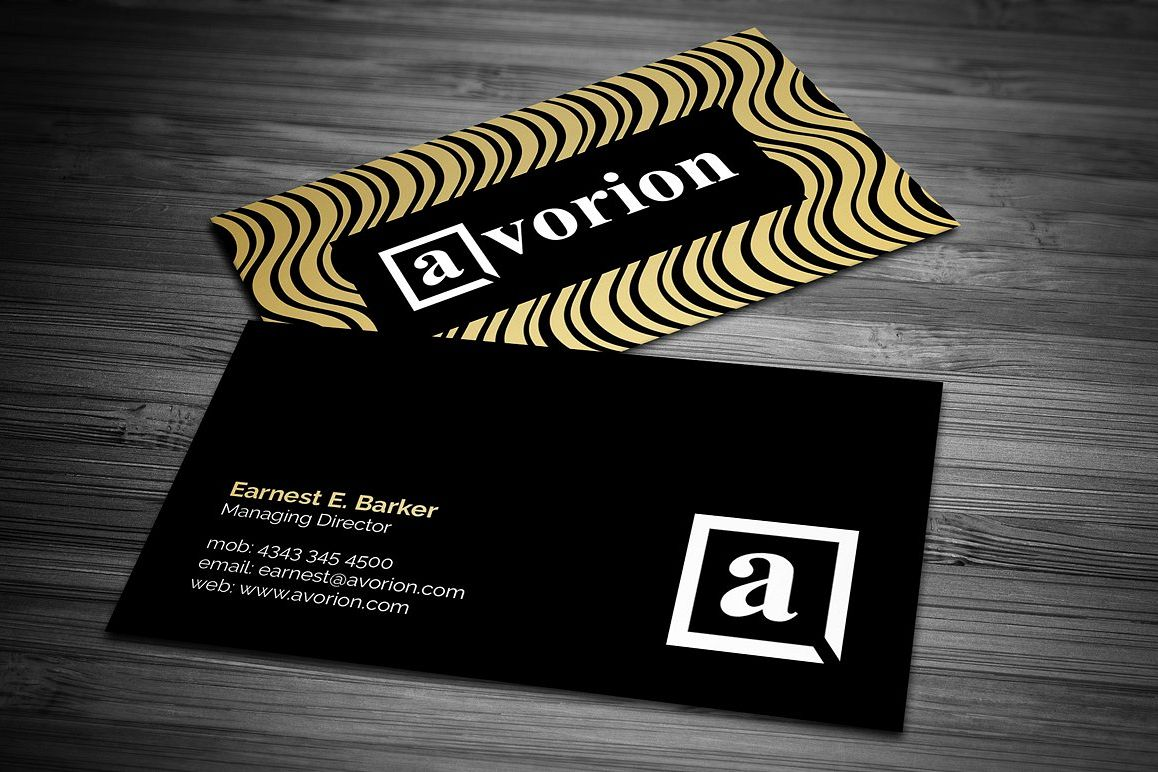 Elegant black and gold business card by design bundles elegant black and gold business card example image colourmoves