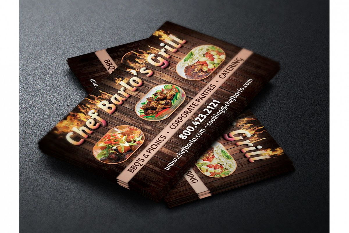 Chef business card template by godserv design bundles chef business card template example image colourmoves