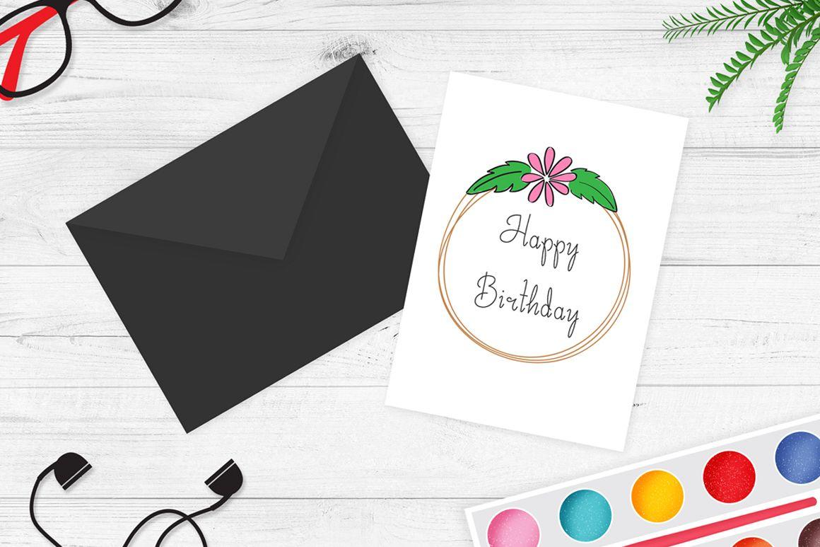 Greeting Card Mockup V4 Example Image
