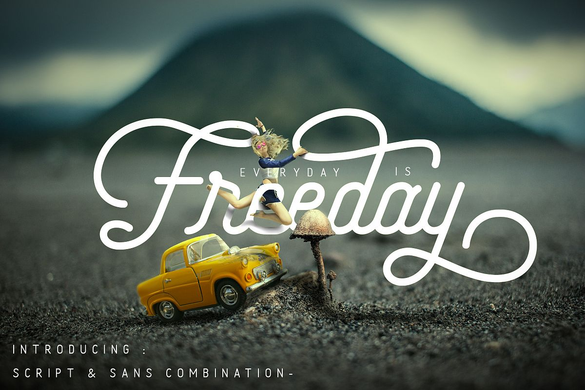 Freeday Script & Sans Font example image