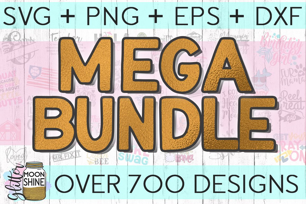 MEGA Bundle Over 700 SVG DXF PNG EPS Cutting Files example image
