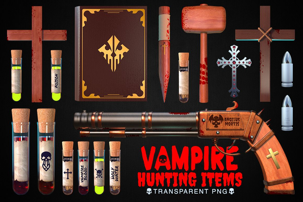 Vampire Hunting Items Collection example image