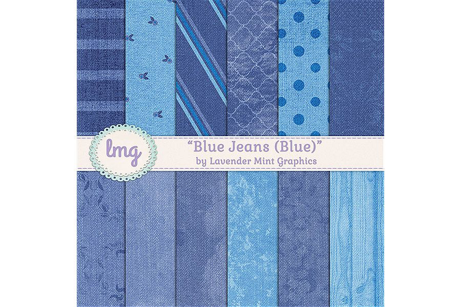 Blue Jeans Digital Papers example image