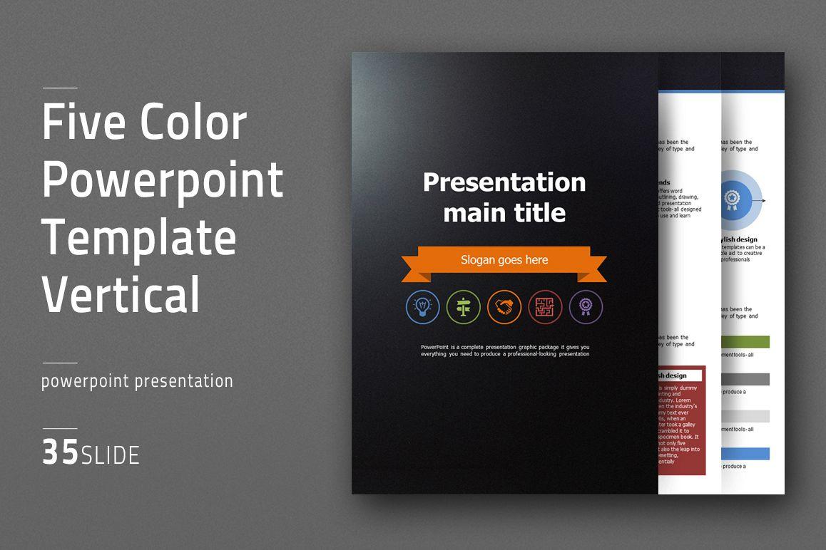 Five color powerpoint template vertical design bundles five color powerpoint template vertical example image toneelgroepblik Images