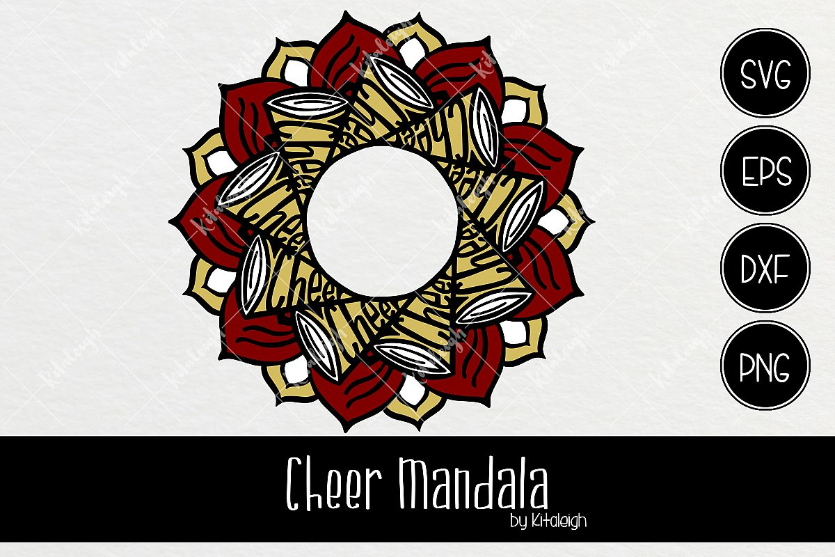 Cheerleader Mandala Monogram Frame by K | Design Bundles
