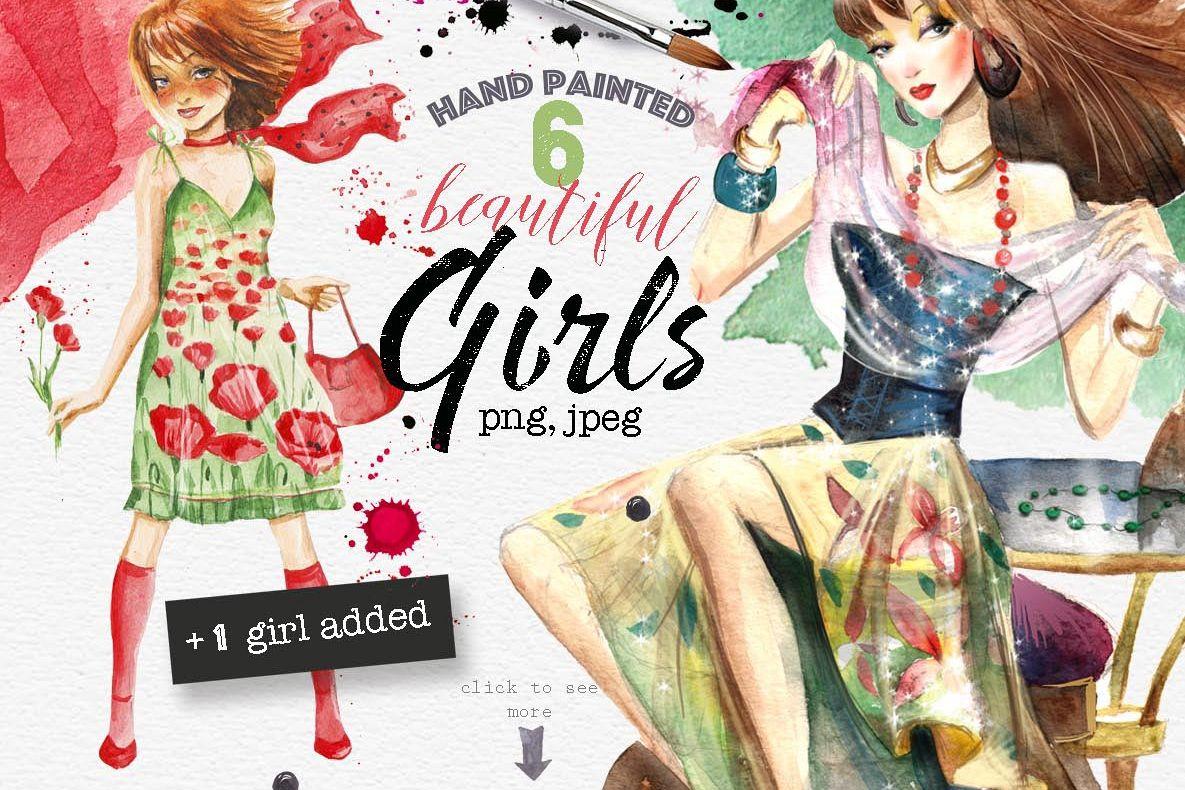 Beautiful girls example image