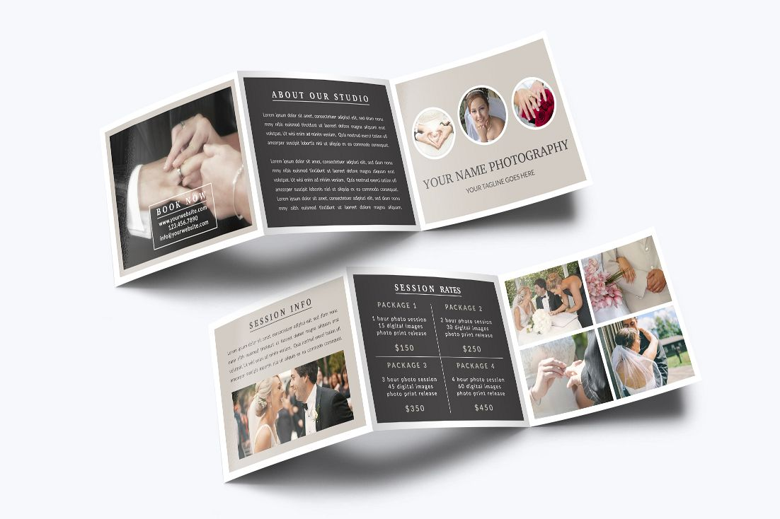 Photography Trifold Brochure Template example image