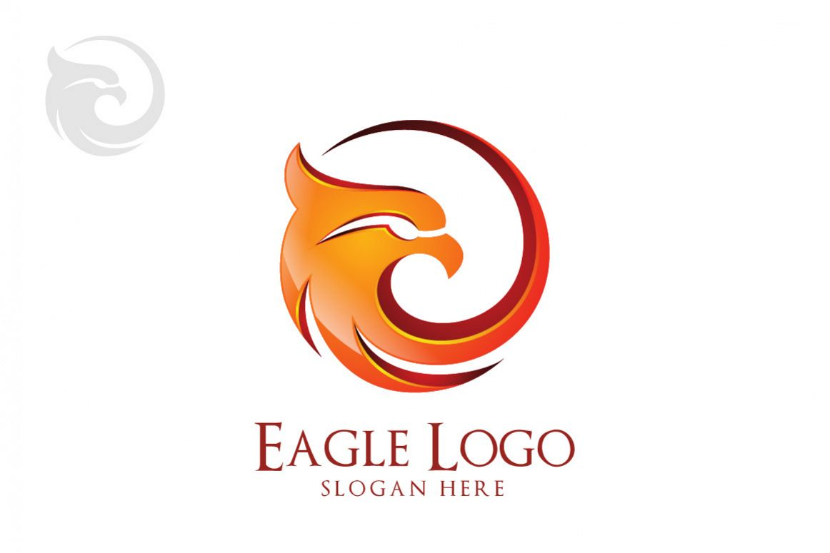 Eagle logo in circle hawk phoenix by design bundles eagle logo in circle hawk phoenix example image biocorpaavc Gallery