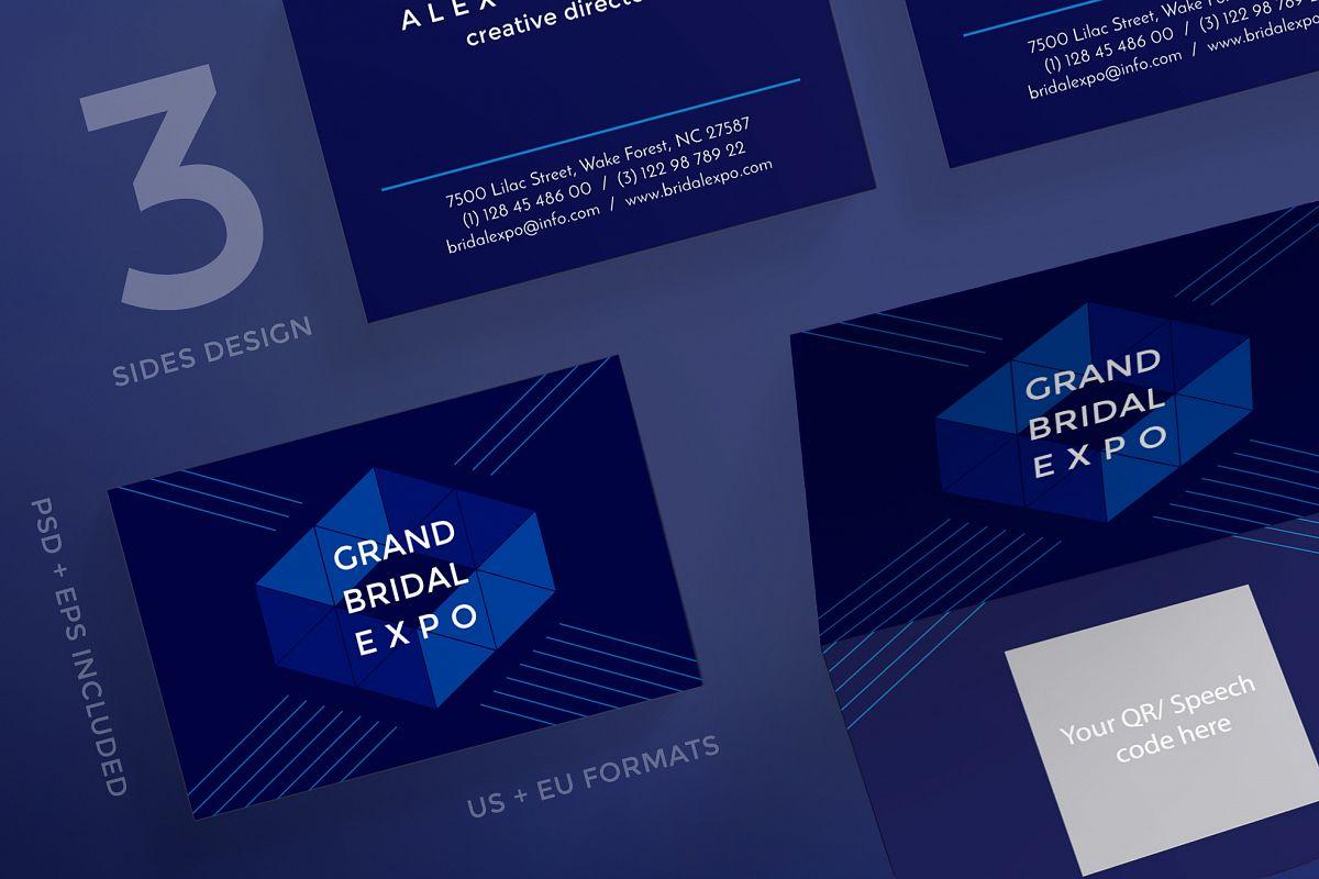 Grand Bridal Expo Business Card Design   Design Bundles