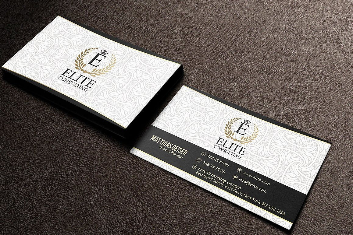 Gold And White Business Card by Marvel | Design Bundles