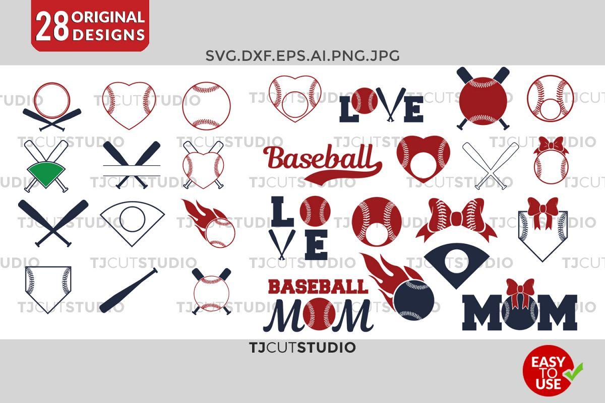 Baseball svg Baseball Monogram Frames S | Design Bundles