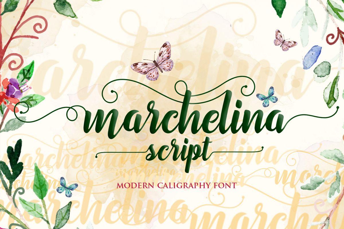 Marchelina Script example image