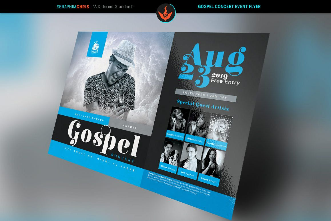 Gospel Concert Flyer Photoshop Template | Design Bundles