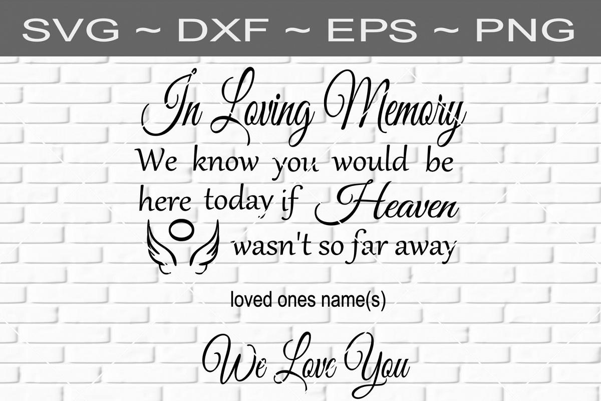 Attractive In Loving Memory Memorial Design SVG by | Design Bundles TG06