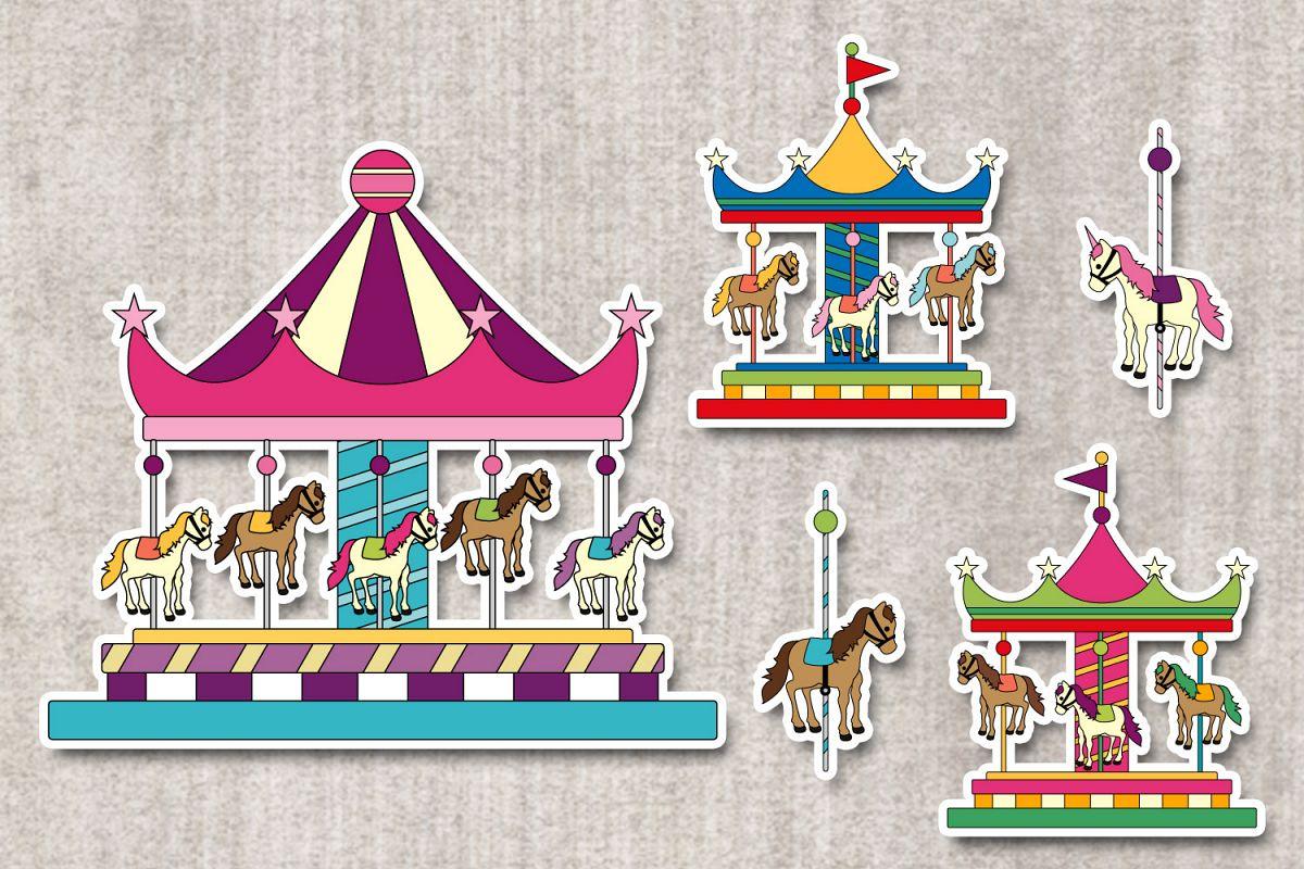 carousel merry go round graphics illust design bundles. Black Bedroom Furniture Sets. Home Design Ideas