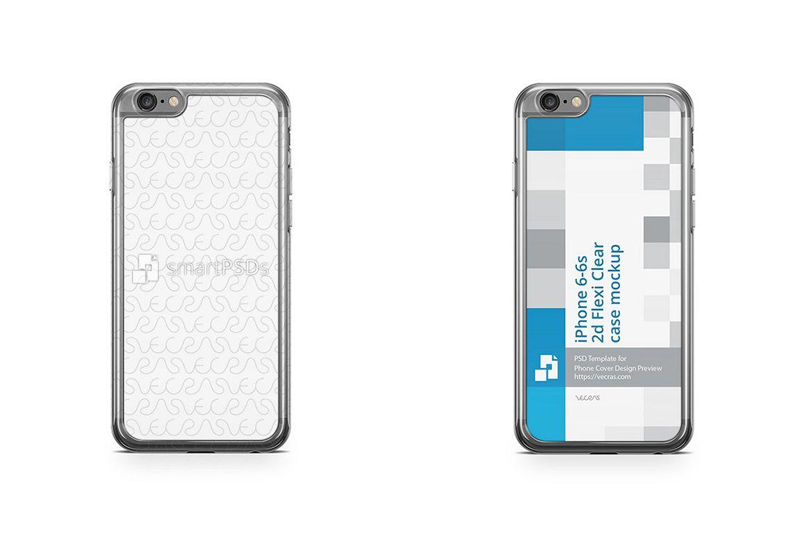 apple iphone 6s 2d flexi clear case des design bundles