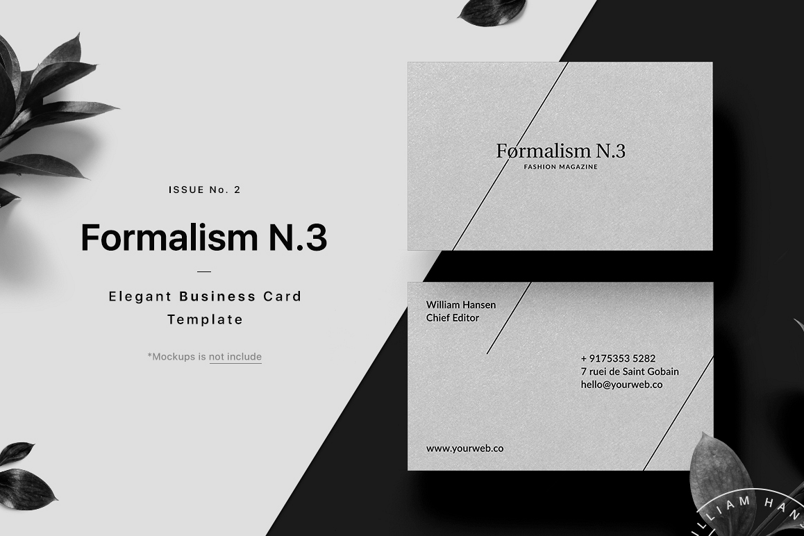 Formalism Business Card Template by Uid | Design Bundles