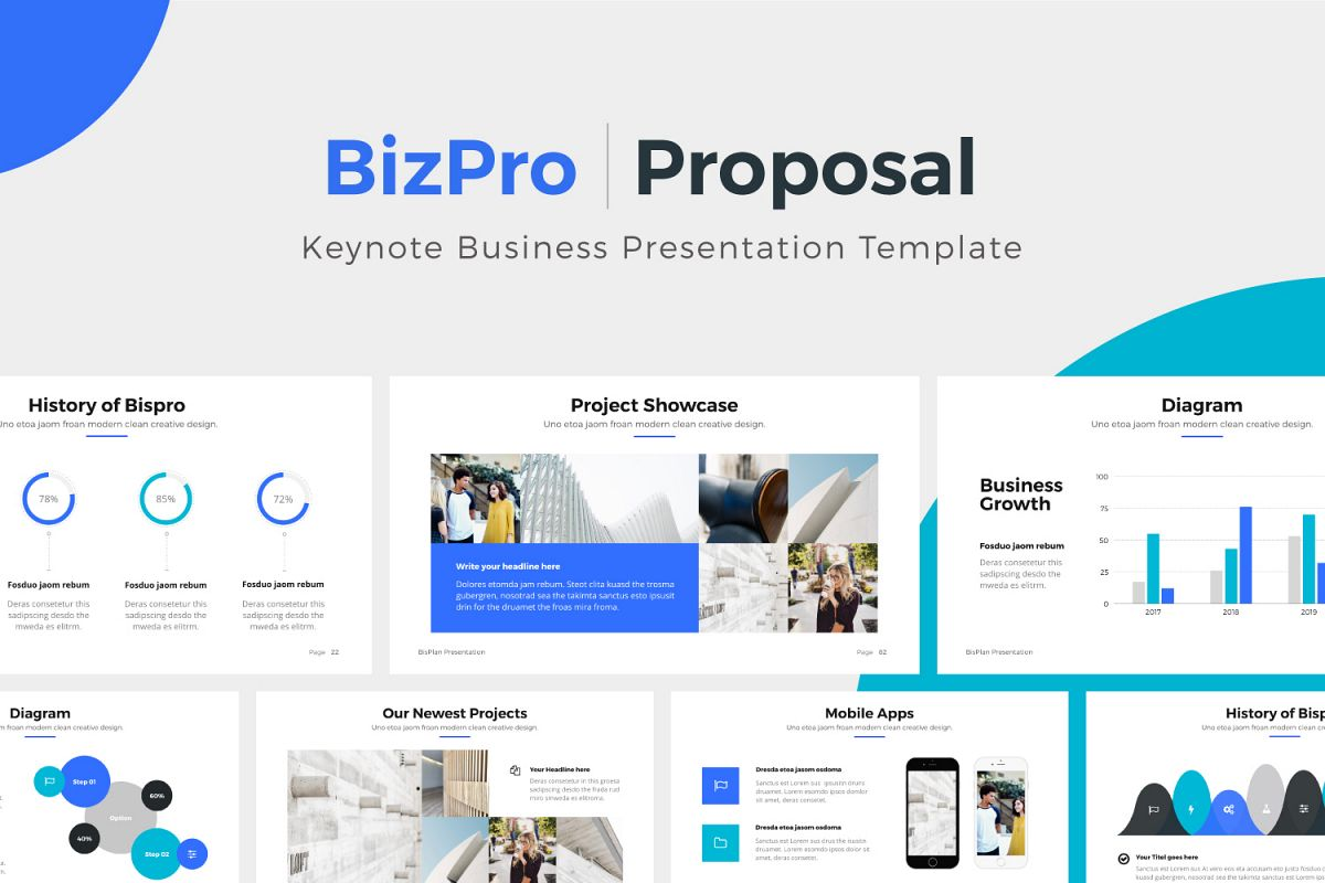bizpro proposal keynote template example image