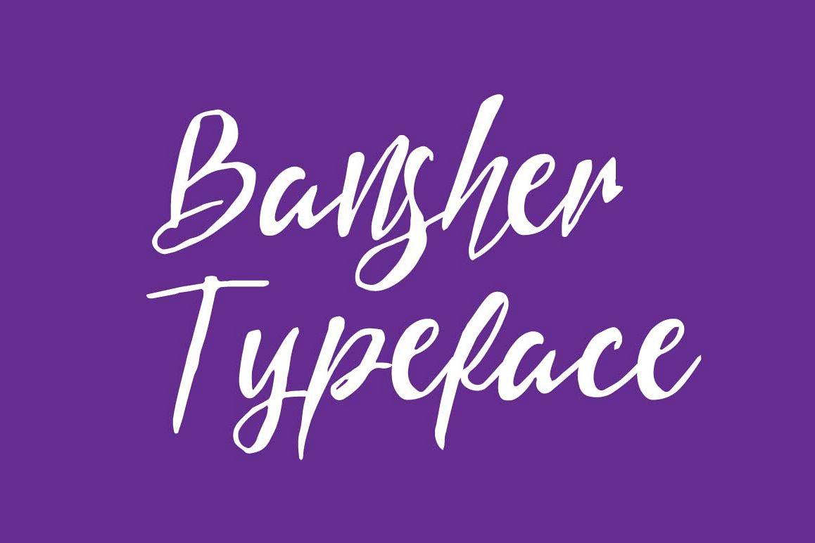 Bansher Typeface example image