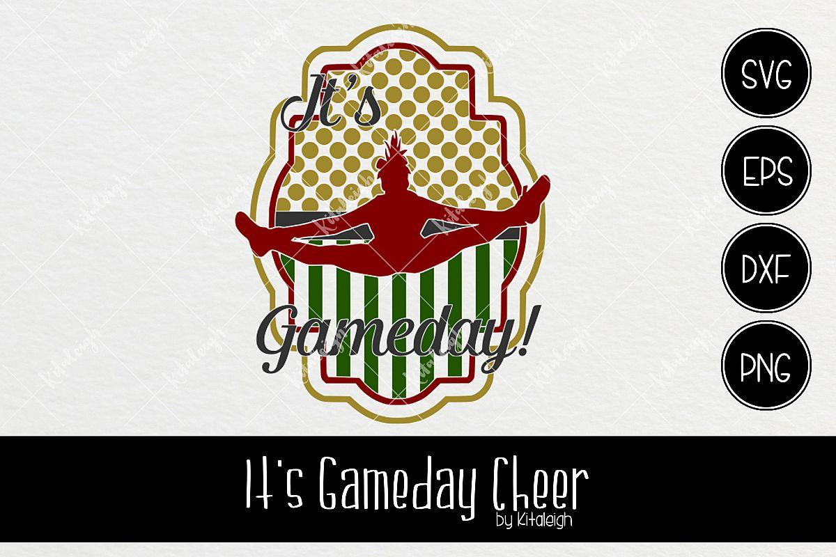 Cheerleader It\'s Game Day Frame by Kita | Design Bundles