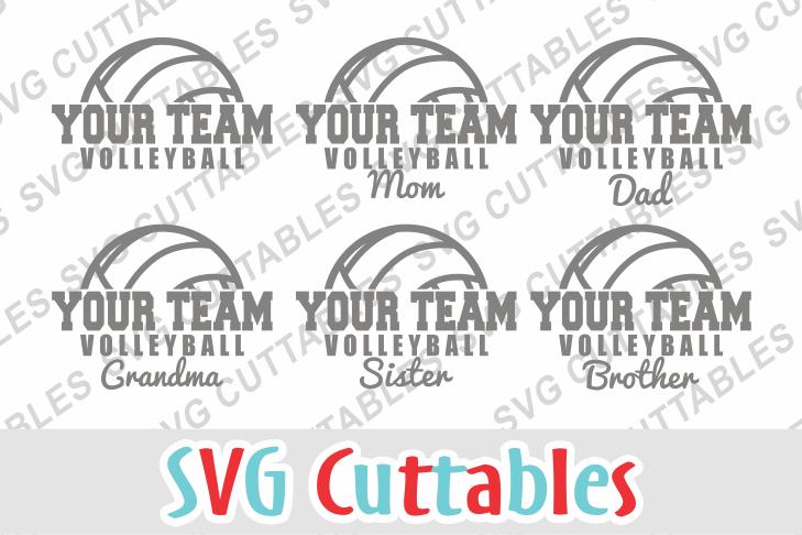 Volleyball Template by SVG Cuttables | Design Bundles
