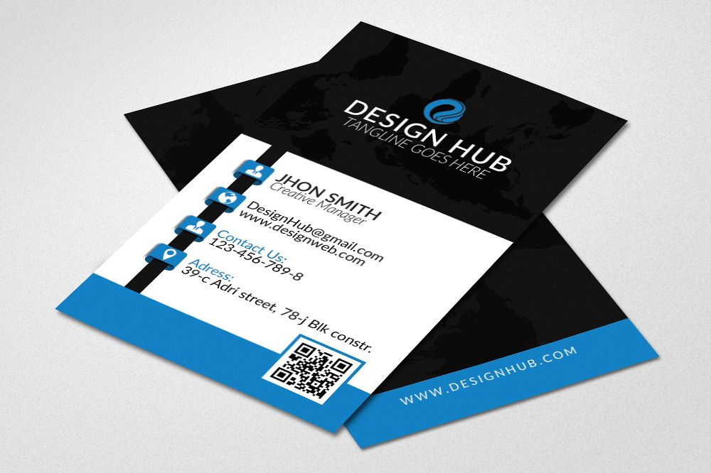 Vertical Business Card by Designhub719 | Design Bundles