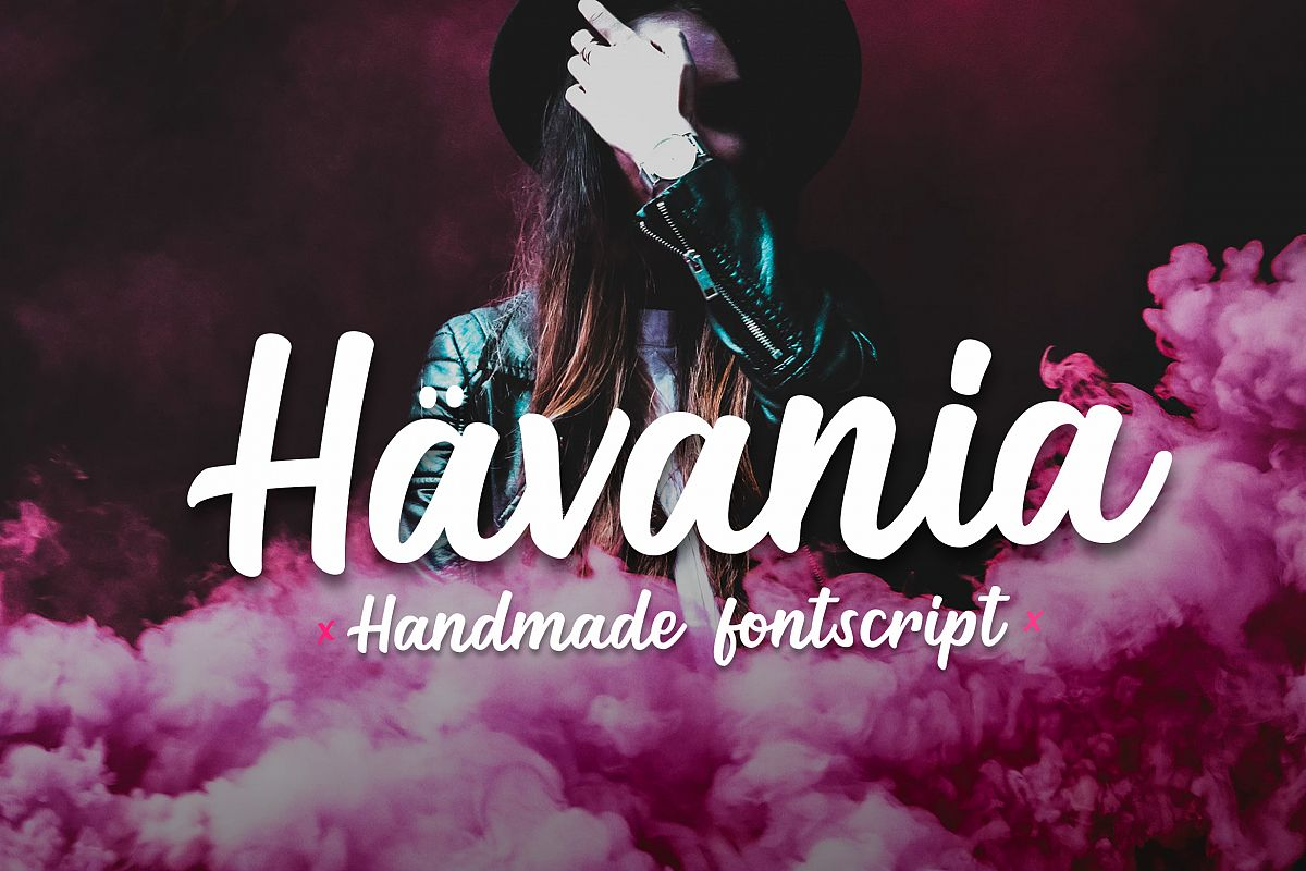 Havania - Font Script example image