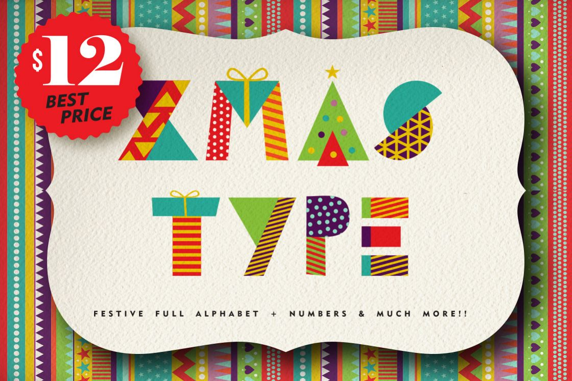 Christmas Geometric typeset + MORE - 90% OFF!  example image
