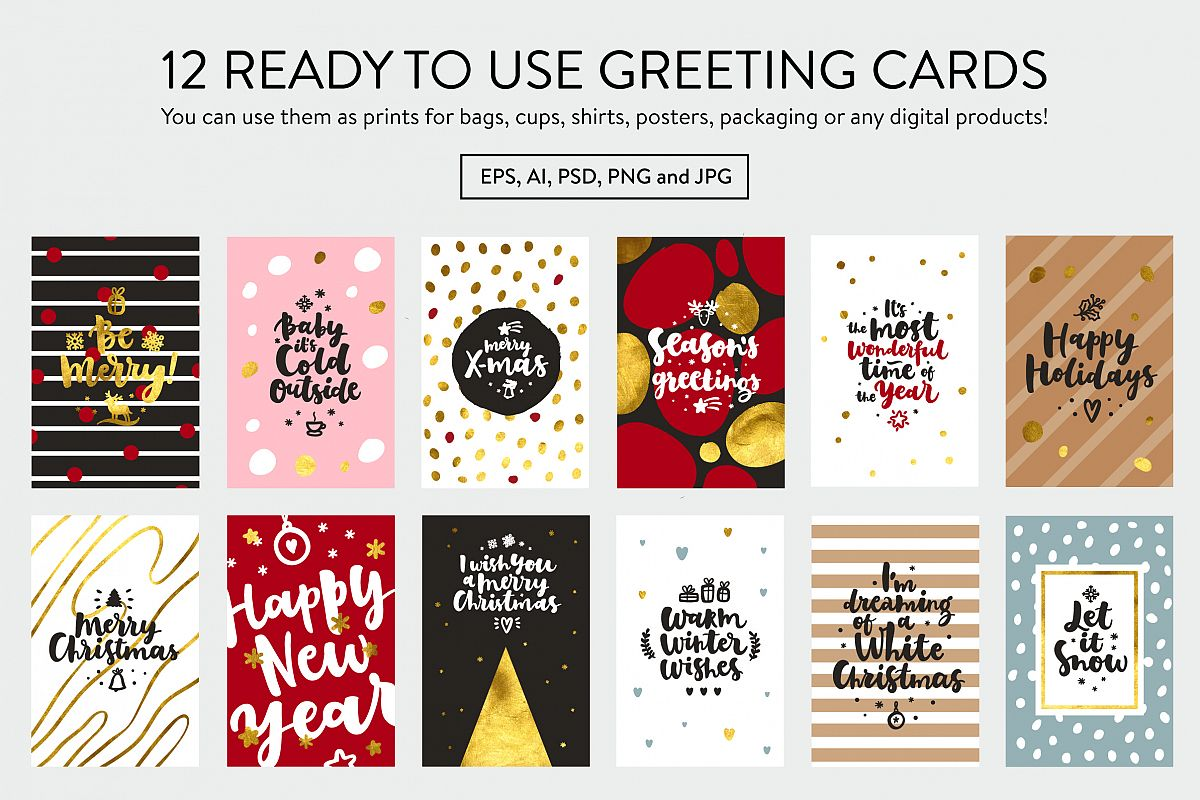Merry Christmas Vector Set example image 10