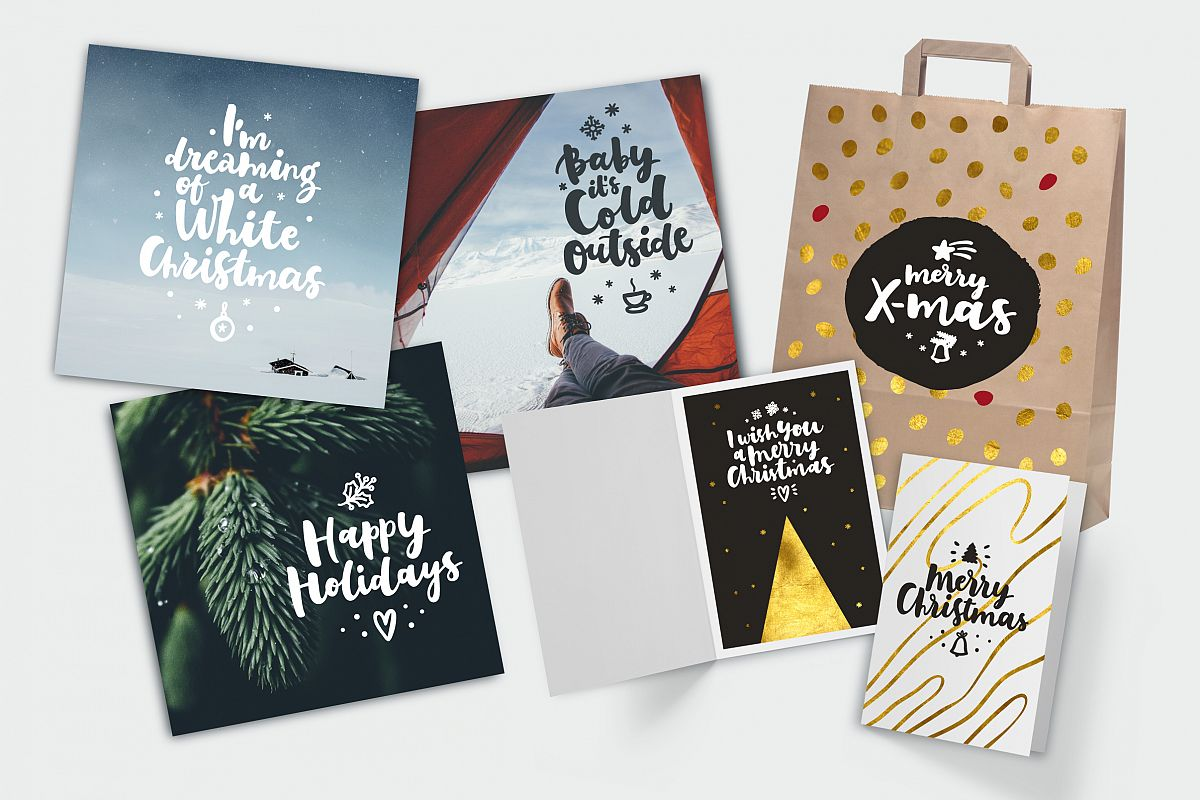 Merry Christmas Vector Set example image 12