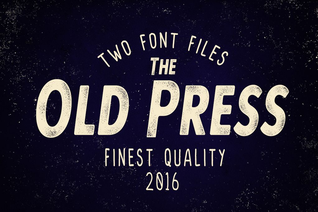 Old Press Two Styles  example image