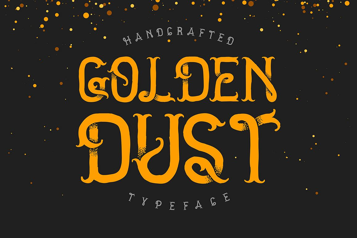 Golden dust typeface example image