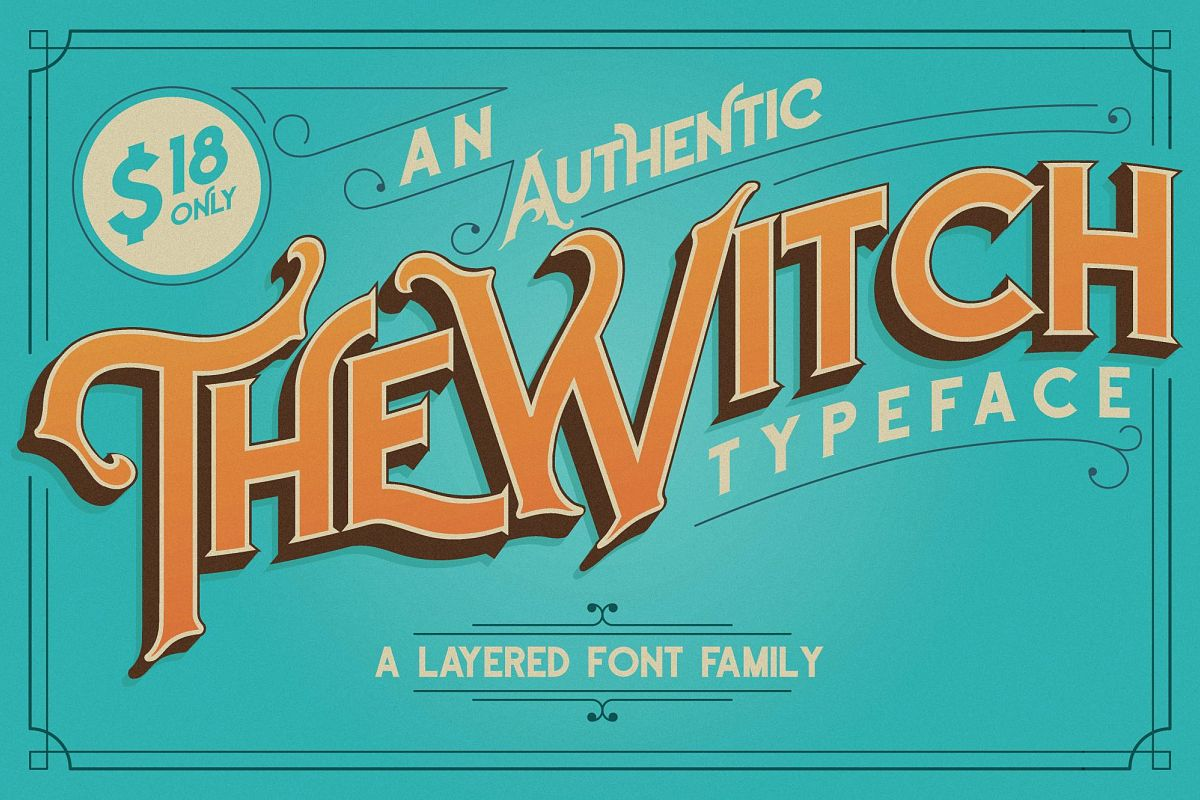 The Witch Typeface example image