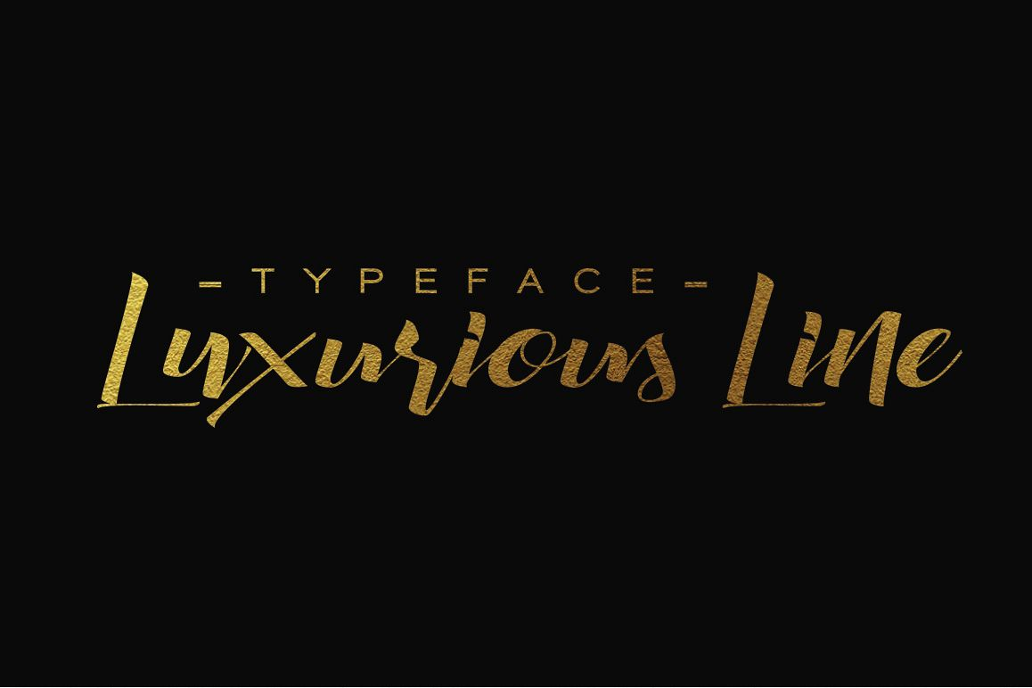 Luxurious Line Typeface example image