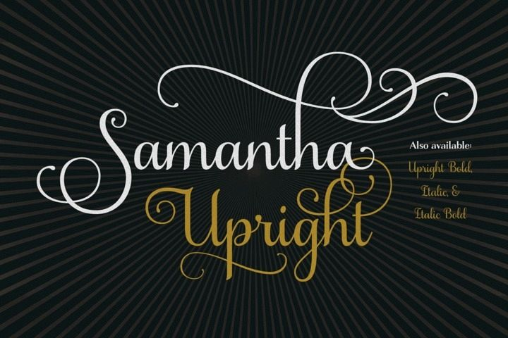 Samantha Script Upright example image