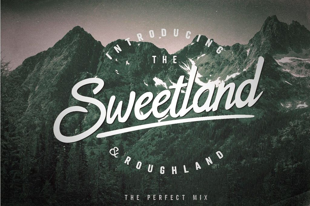 The Sweetland Typeface Font Duo example image