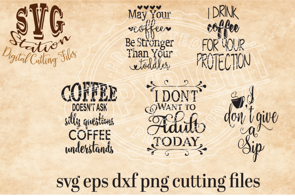 Coffee Svg Cutting Collection example image