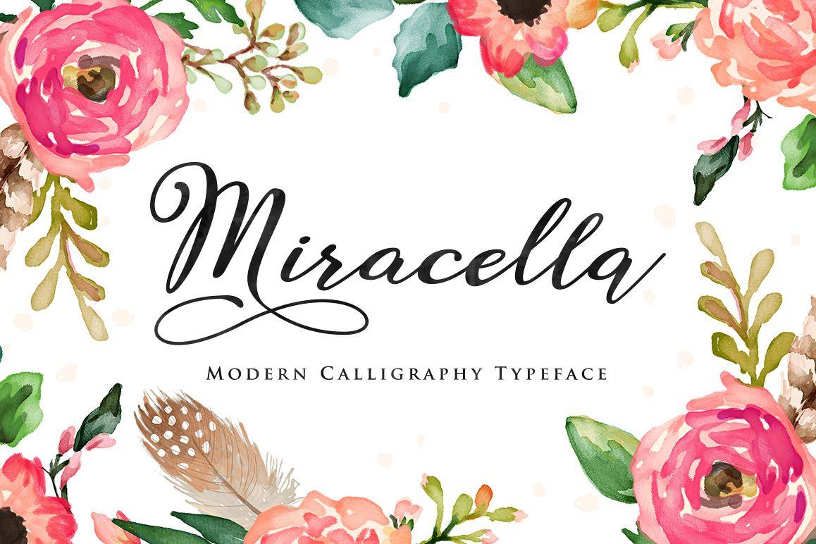 Modern Calligraphy Typeface Handmade Style